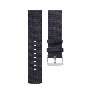 Nylon Canvas Metal Buckle Watch Strap 20mm for Ticwatch 2 / Ticwatch E - Black