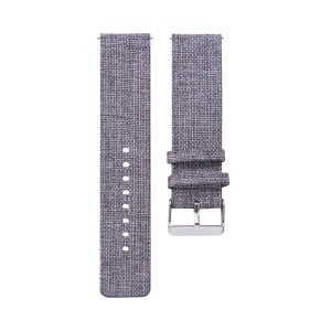 Metal Buckle Nylon Canvas Watch Band Wrist Strap for Garmin Vivoactive 3 / Vivomove HR - Dark Grey