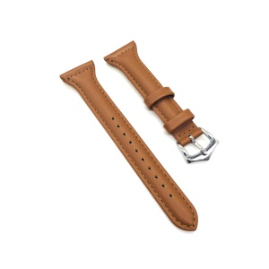 Full Grain Cowhide Leather Watch Strap Accessory Band for Fitbit Versa - Dark Brown