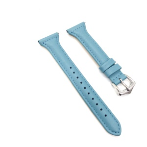 Full Grain Cowhide Leather Watch Strap Band for Fitbit Versa - Blue