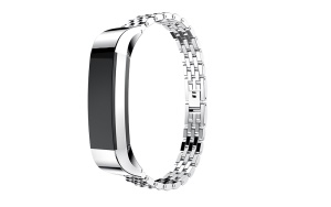 Stainless Steel Watch Band Wrist Strap Replacement for Fitbit Alta HR - Silver
