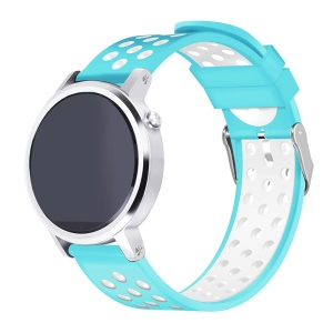Two-tone Silicone Wristwatch Band for Samsung Gear S3 Frontier / S3 Classic - Blue / White