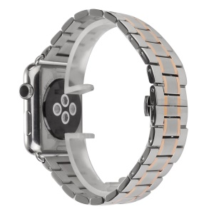 Stainless Steel Smart Watch Band Strap for Apple Watch Series 3 / 2 / 1 38mm - Silver / Rose Gold