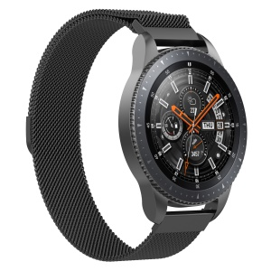 Luxury Milanese Stainless Steel Magnetic Watch Strap for Samsung Galaxy Watch 46mm - Black