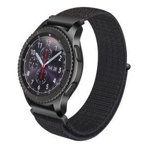 Nylon Velcro Closure Watch Band Part for Samsung Gear S2 - Black