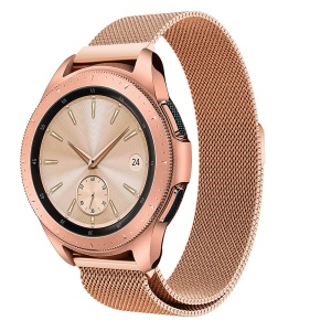 Milanese Stainless Steel Magnetic Watch Strap for Samsung Galaxy Watch 42mm - Rose Gold