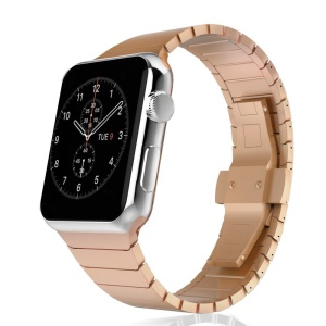 Stainless Steel Replacement Watch Band Link Bracelet for Apple Watch Series 4 40mm/3/2/1 38mm - Rose Gold