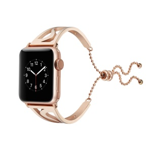 Classic Metal S Shape Watchband Bracelet for Apple Watch Series 4 44mm/3/2/1 42mm - Rose Gold