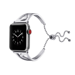 Classic Stainless Steel S Shape Watchband Bracelet for Apple Watch Series 4 44mm/3/2/1 42mm - Silver
