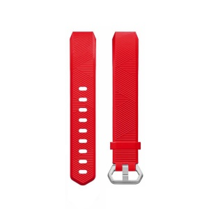 Soft TPU Bracelet Strap Watch Band Replacement for Fitbit Ace - Red
