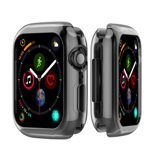 Flexible Soft Silicone Anti-aging Watch Cover for Apple Watch Series 3 / 2 / 1 42mm - Black