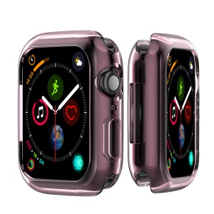 Flexible Soft Silicone Anti-aging Watch Case Cover for Apple Watch Series 4 44mm - Pink