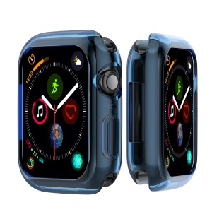 Flexible Soft Silicone Anti-aging Watch Protective Cover for Apple Watch Series 4 44mm - Blue