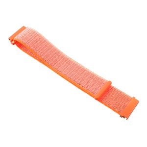 Velcro Closure Nylon Watch Band Strap Replacement for Samsung Galaxy Watch 42mm / Gear S2 / Huami Amazfit Watch Youth Edition - Orange