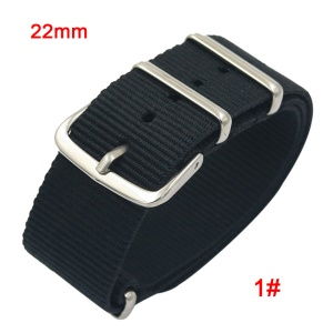 Metal Buckle Nylon Watch Strap 22mm for Samsung Galaxy Watch 46mm - Black