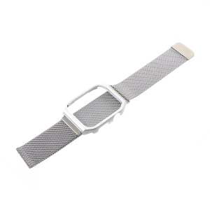 Milanese Stainless Steel Watch Strap with Frame for Apple Watch Series 3 / 2 / 1 42mm - Silver
