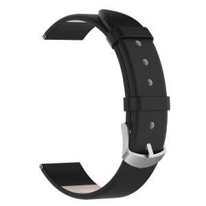 Correa De Reloj De Cuero Genuino Para Samsung Galaxy Watch 42mm - Negro