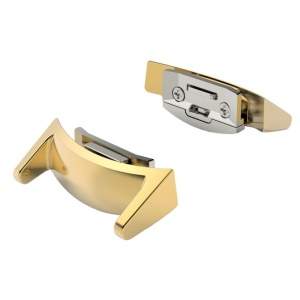 2Pcs/Pair Metal Watch Strap Connectors for Samsung Gear S2 R730/R720 - Gold