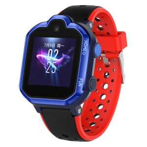 Bi-color Silicon Watch Band Strap for Huawei Kid Watch K3 Pro - Black / Red