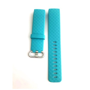 Soft TPU Watch Band for Fitbit Charge 3 - Cyan