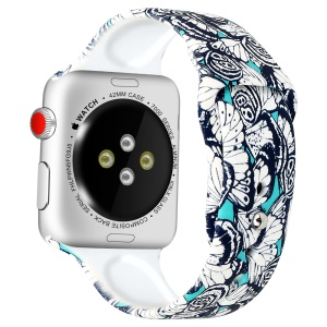 Cinturino Da Polso Con Motivo Stampa Per Apple Watch Serie 4 40mm / Serie 3 2 1 38mm - Stile E