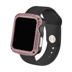 Shock-resistant SGP Smart Watch Case for Apple Watch Series 4 44mm - Rose Gold