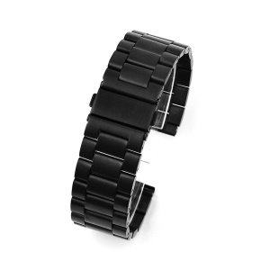 For Suunto 9 GDHS 24mm Stainless Steel Watch Band - Black