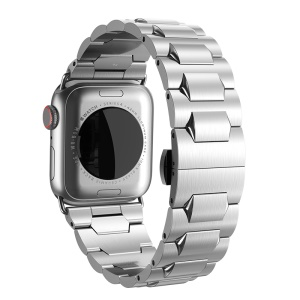 HOCO Stainless Steel Watchband with Axle Connectors for Apple Watch Series 4 44mm/Apple Watch Series 3 2 1 42mm - Silver