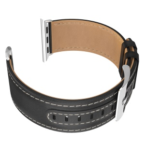 HOCO Genuine Leather Watch Band Wristband for Apple Watch Series 4 44mm Apple Watch Series 3 2 1 42mm - Black