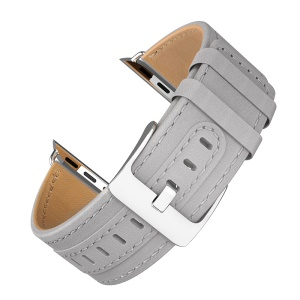 HOCO Genuine Leather Watch Band Wristband for Apple Watch Series 4 44mm Apple Watch Series 3 2 1 42mm - Grey