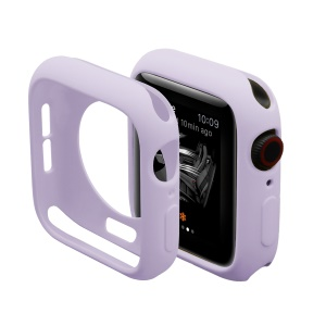 Candy Color Gel TPU Protective Case for Apple Watch Series 3/2/1 38mm - Purple