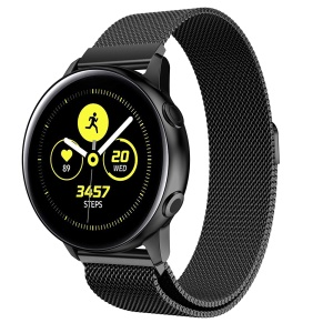 20mm Milanese Mesh Stainless Steel Magnetic Watch Strap for Samsung Galaxy Watch Active SM-R500 - Black