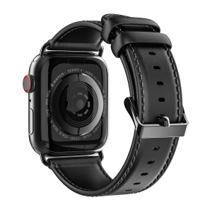 DUX DUCIS Business Genuine Leather Watch Band for Apple Watch Series 5 4 40mm / Series 3 2 1 38mm - Black