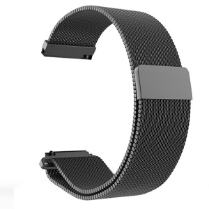 MIJOBS 20mm Magnetic Milanese Stainless Steel Watch Band for Amazfit Youth Version / Huawei Watch 2 - Black