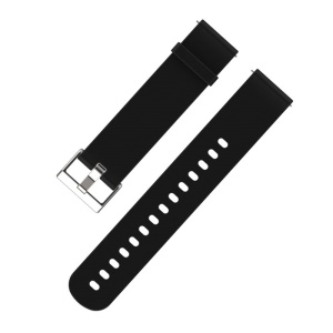 MIJOBS 20mm Flexible Silicone Watch Strap for Amazfit Youth Version - Black