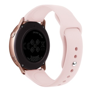 20mm Soft Silicone Watch Band Replacement for Samsung Galaxy Watch Active SM-R500 - Pink