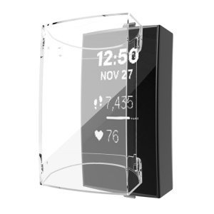 Clear All-wrapped TPU Protector Cover Watch Case for Fitbit Charge 3