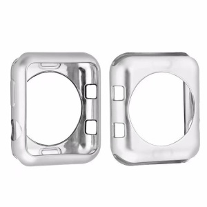 Plated Soft TPU Protector Cover for Apple Watch Series 4 40mm - Silver