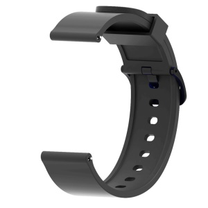 20mm Soft Silicon Watch Band for Amazfit Bip Smart Watch - Black