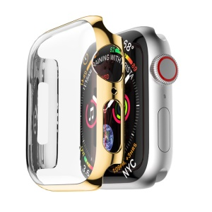 Caixa De Relógio Inteligente PC Shocproof Para Apple Watch Series 4 44mm - Ouro