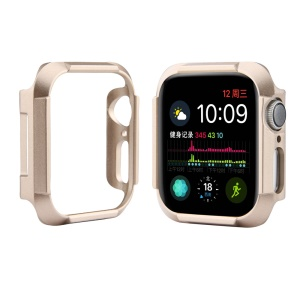 Choc Drop PC Cover Hard Cover Smart Watch Case Pour Apple Watch Series 4 44mm - Or