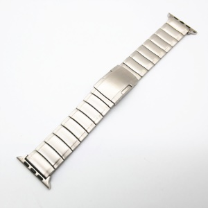 One Bead Stainless Steel Watch Strap with Adjustable Clasp and Links for Apple Watch Series 5 4 44mm / Series 3 2 1 42mm - Silver