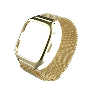 MIJOBS Metal Case Magnetic Watchband for Fitbit Versa - Gold