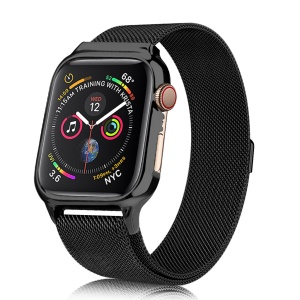 Magnetic Milanese Stainless Steel Watch Band for Apple Watch Series 4 44mm - Black