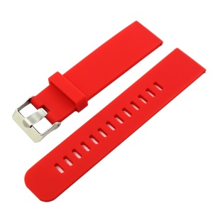 18mm Silicone Wrist Strap for Asus Zenwatch 2 - Red