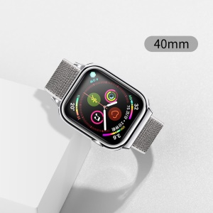 USAMS US-ZB073 Nylon Sport Mode Wrist Band for Apple Watch Series 4 40mm - Silver