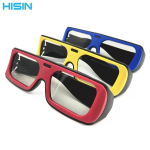 Dual Color 3D Cinema Glasses Movie Theater Passive TVs 3D Glasses Lightweight 3D Glasses - Random Color