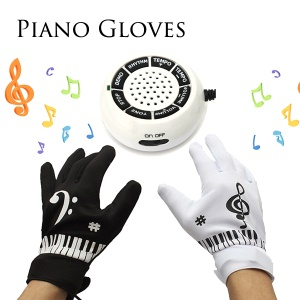 Novelty Electronic Piano Gloves with Musical Fingertips + Controller