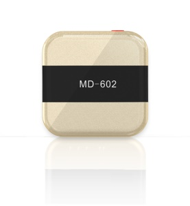 MD-602 Mini Tracker Protable GPS Locator for Kids SOS Alarm GSM Tracking Device - Gold Color