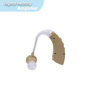 VHP-220 Mini Behind Ear Hearing Aid Volume Adjustable Hearing Assistance Amplifier with Earplugs